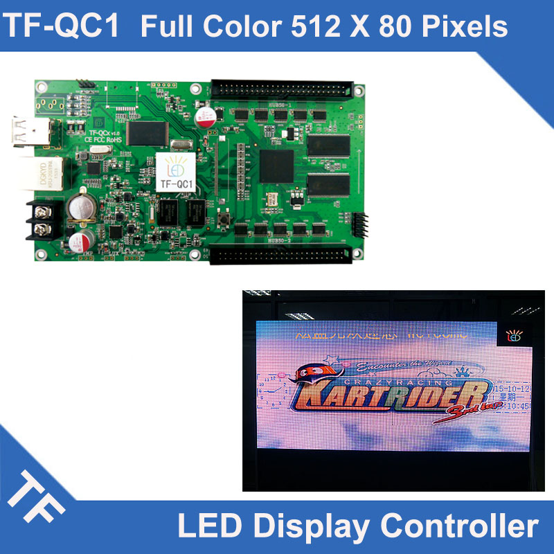 TF-QC1 Longgreat TF USB Ethernet port Full color LED display asynchronous control card 512*80, 384*160TF-QC1 Longgreat TF USB Ethernet port Full color LED display asynchronous control card 512*80, 384*160