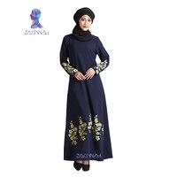 New Flower Print Plus Size Turkish Women Abaya Dress Islamic Clothing For Women Fashion Muslim Dress