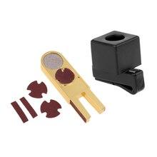Легкий бильярдный аксессуар, держатель мела для кия с зажимом для ремня(47x11x18 мм), и биллиардный кий наконечник Scuffer Repairer