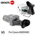 A prueba de polvo 2.8 veces/3 pulgadas v3 lcd viewfinder extender para canon eos 600d 60d 650d 700d 70d dslr cámaras