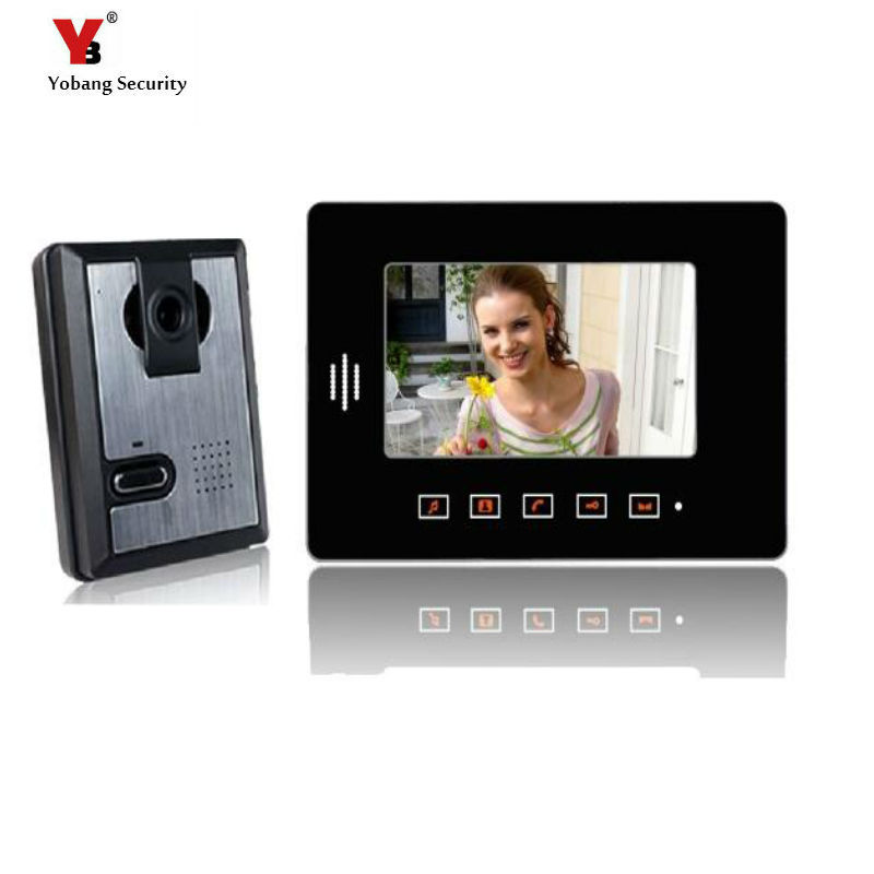 Yobang Security freeship 7 Video Intercom Night Vision Door bell phone Monitor Door viewer Intercom For Home video doorbell