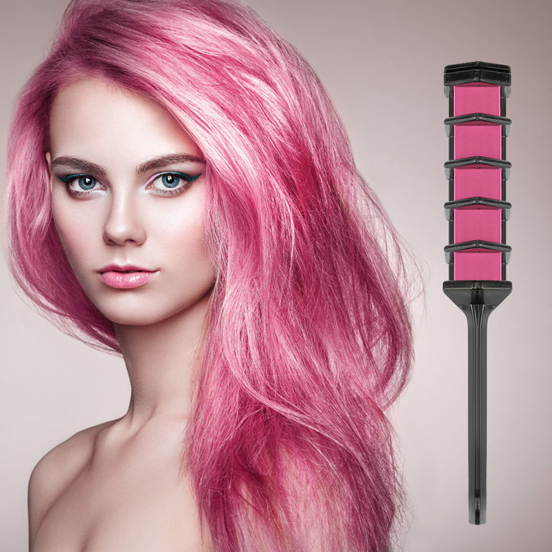 Dye Salon Party Fans Cosplay Tool Fashion Unisex Hair Color Party Hairs Dyeing Comb New Temporary Hair Chalk Hair Color Comb