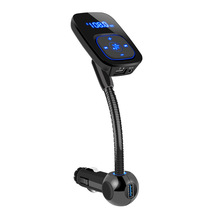 цена на Bluetooth Car Kit Handsfree FM Transmitter Wireless Bluetooth A2DP AUX 3.5MM Audio MP3 Music Player Dual USB Car Charger