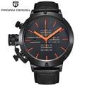 2016 nova Marca de Luxo PAGANI DESIGN relógio reloj hombre de couro Multi-À Prova D' Água Esportes de Quartzo Relógios Homens Relogio masculino