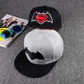 Fashion Cartoon Caps Flat Baseball Cap Spiderman Batman Hat Casquette Sun Hat Gorras Dancer Boy & Girls Hip Hop Cap HT-075