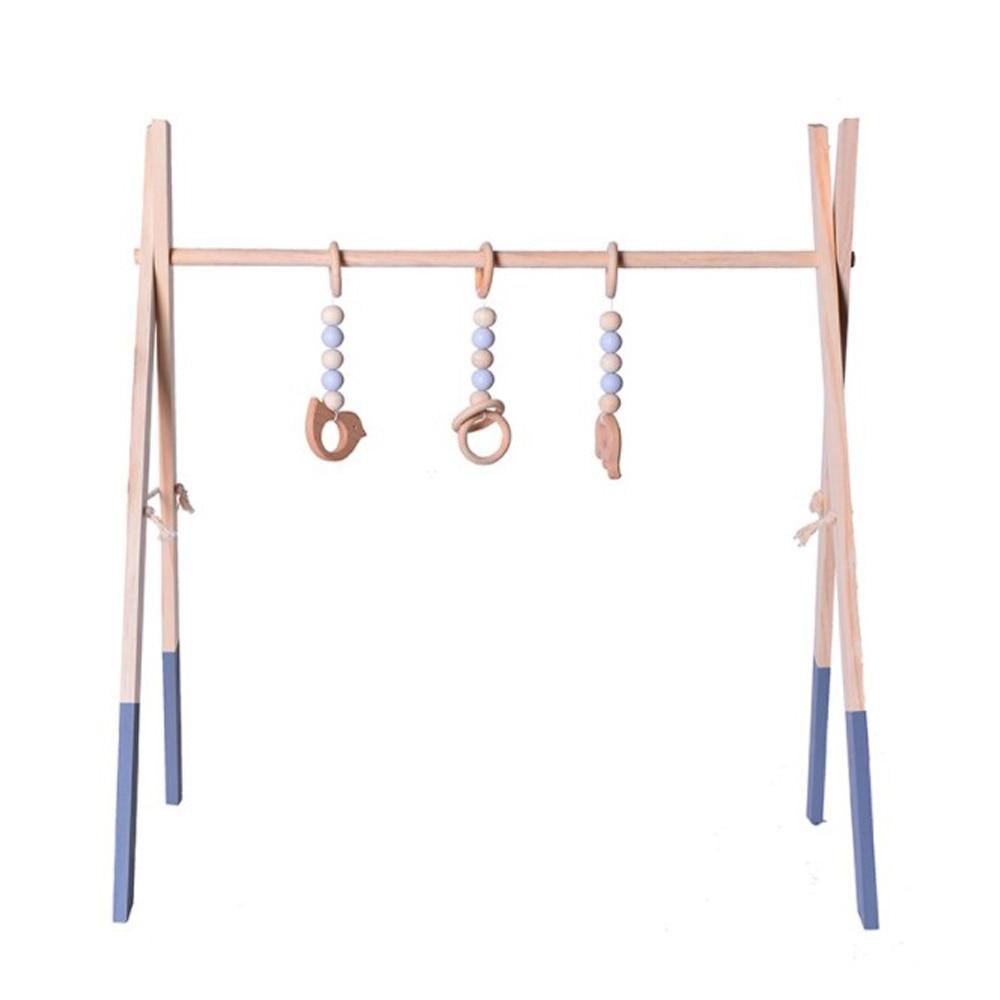 estilo nordico ginasio jogo madeira anel pull brinquedo sensorial do bercario do bebe quarto infantil roupa
