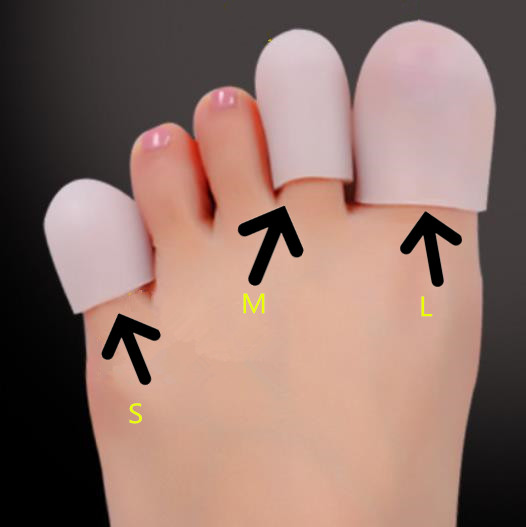 10pcs/5Pairs Silicone Toe Sleeve Gel Toe Cap Cover Protector For Corn Blisters Pain Relief Finger Gel Tube Bunion Care