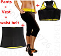 pants+vest+belt neoprene body shaper fitness slimming suit control panties waist trainer tummy Belt slim underwear Shapewear set