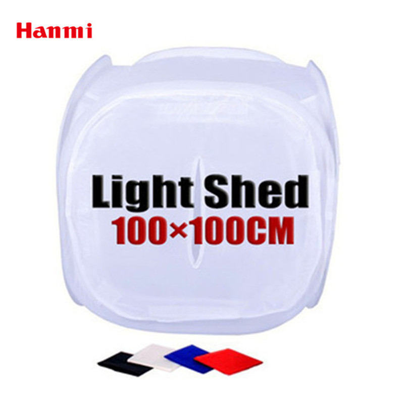 Hanmi 100cmx100cm Round Light Box Light Tent Photo Studio Accessories Background Fabric Lightbox Backdrop Photography Studio Kit-in Tabletop Shooting from Consumer Electronics    1