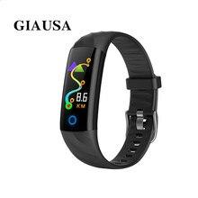 GIAUSA Bluetooth Sport IP68 Waterproof Heart Rate S5 Fitness Smart Band  Blood Pressure Oxygen Monitor Bracelet