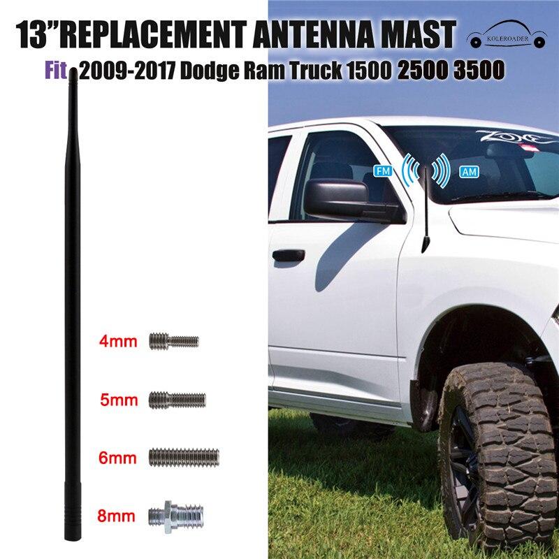 Pour 2009-2017 Dodge Ram 1500 2500 3500 FM Radio Antenne mât Signal Amplificateur Booster De Voiture Toit Aérienne Antena 13 pouces KOLEROADER/