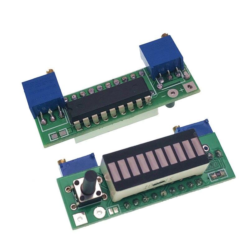 Diy LM3914 Power Indicator General 12V Battery 3.7V Lithium Battery Power Level LED Indicating Measurement Display Board Tester