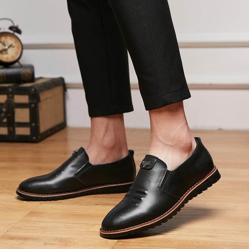 Temporadas De Dos Business Sapatos Preto Casual Homens Moda Quatro Baixos Masculinos marrom Mocassins Mocassim Couro Respirável Preto UwYfnxTtq