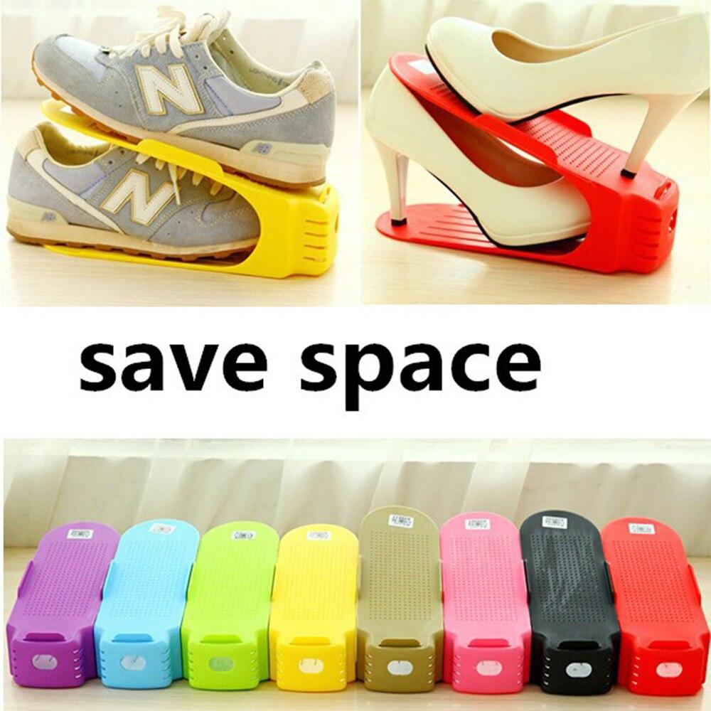ᗗ2017 Modern Adjustable Shoe Organizer Storage Shoes Rack Living ...