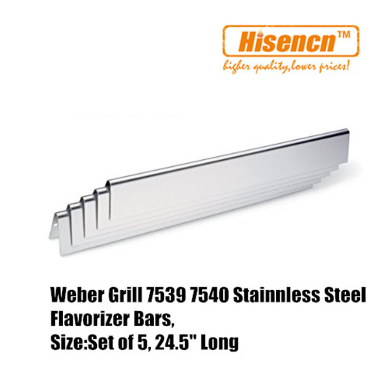 Hisencn Replacement SS Burner 7508 and SS Heat Plate 7537 for Genesis Silver,Gold B & C, Spirit 700 Gas Grill
