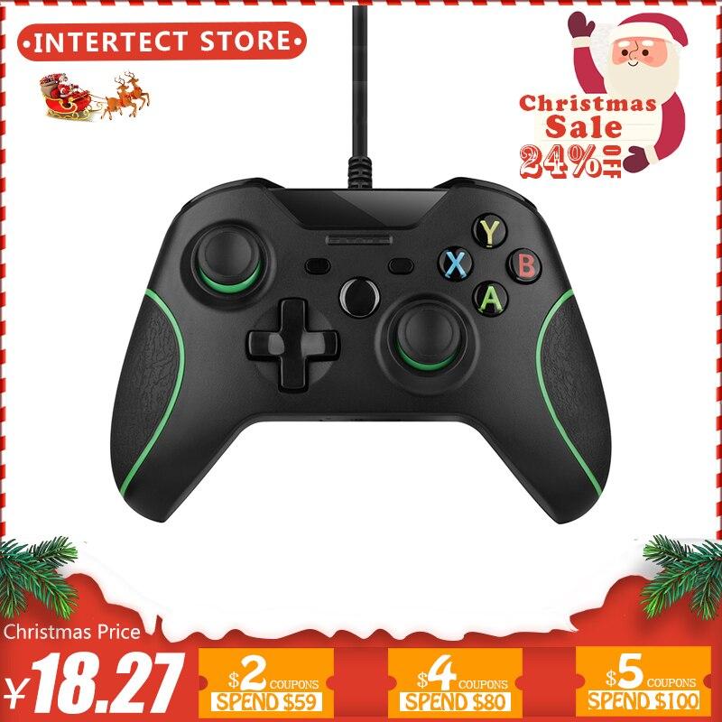 USB Wired Controller Controle Für Microsoft Xbox Einem Controller Gamepad Für Xbox One Schlank PC Windows Mando Für Xbox one joystick
