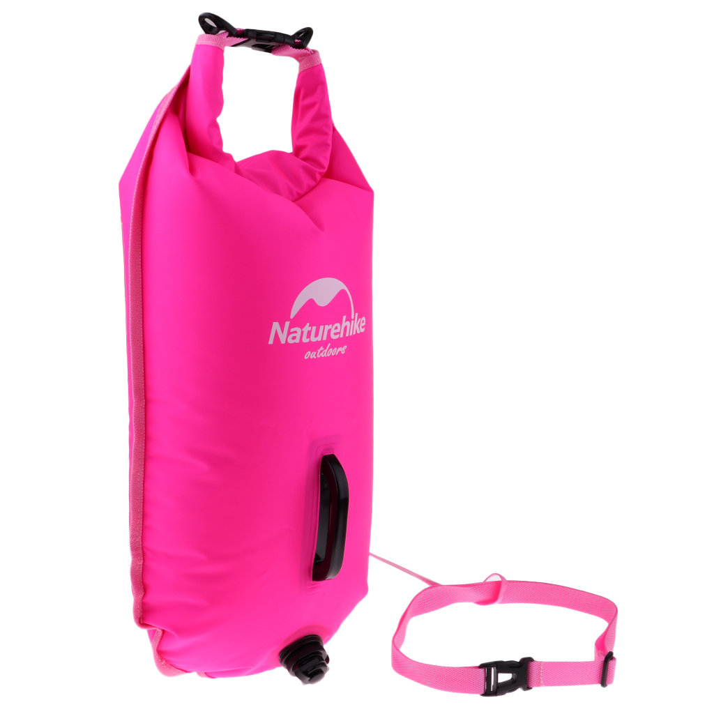 High Visibility Professional Inflatable Swimming Dry Bag w Adjustable Waistband and Sturdy Handle Safety Swim Buoy Pull Float in Swimming Rings from Sports Entertainment