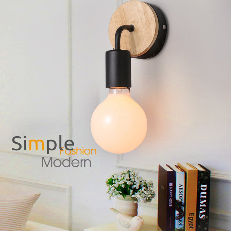 Aliexpress.com : Buy Modern Wall Lamps Sconces Living Room Wooden  Restaurant Bedroom Decorative Wall Lights Lamparas Home Lighting Fixture  From Reliable ... Part 50