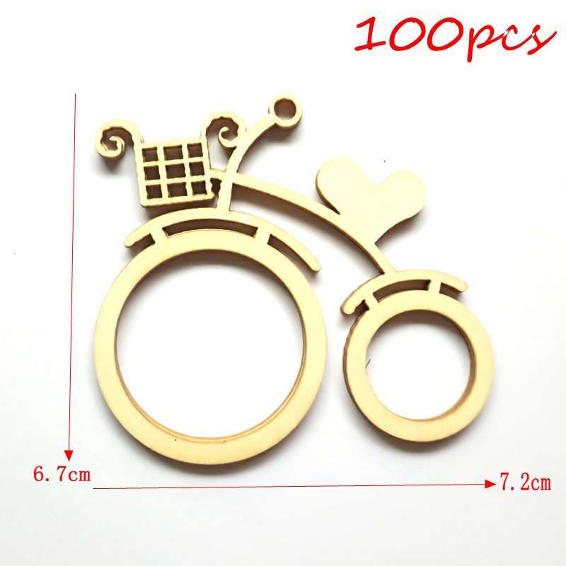100 шт./лот Новый велосипед 2 мм Толстая фанера ремесла аксессуары для деревянных ремесел домашний декор 187243