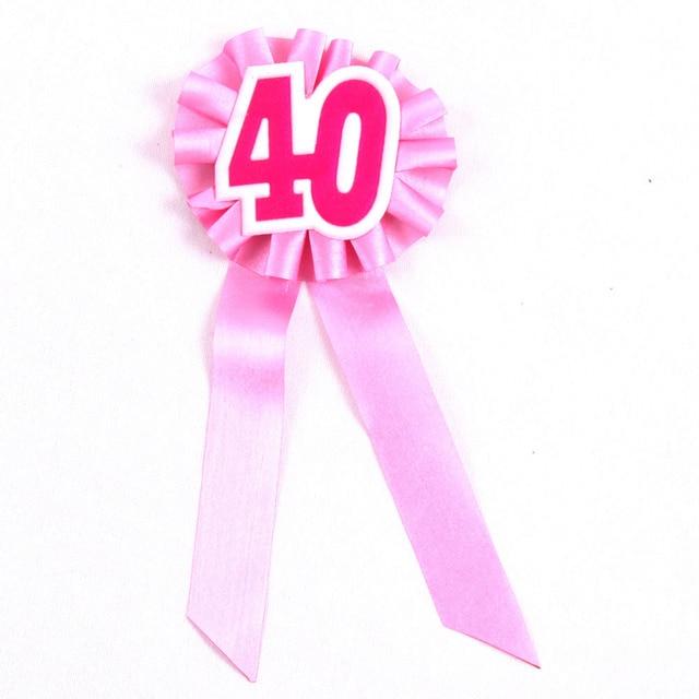 4 Stks Event Party 40 Jaar Verjaardag Ceremonie Broche Meisjes Badge