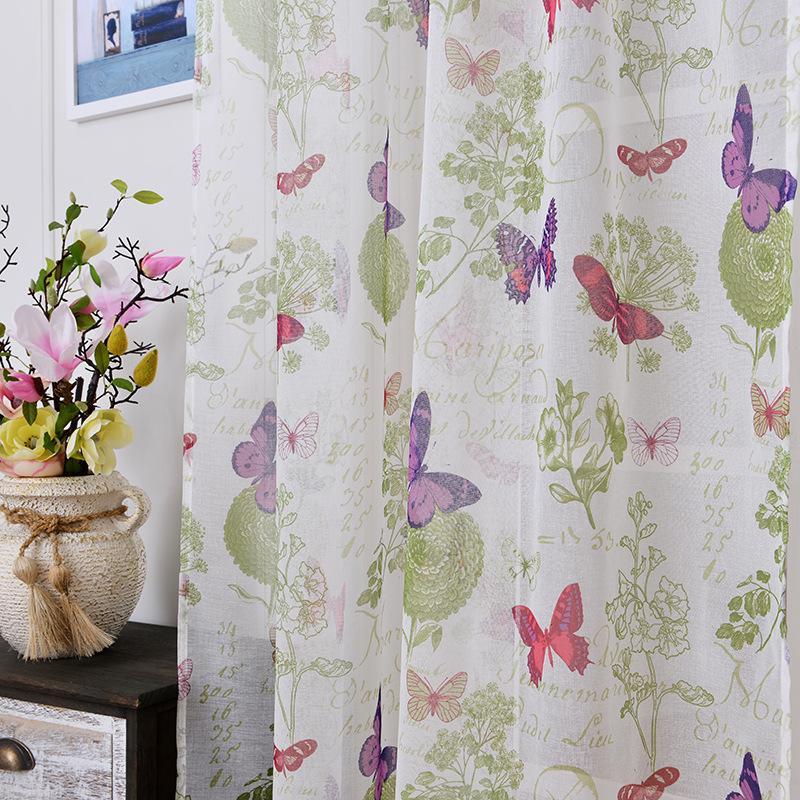 suave tela tulle cortinas para el dormitorio mariposa colorida nios tules cortinas visillos cortinas para