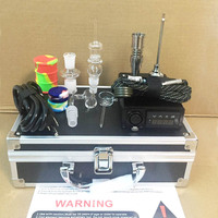 Portable ENAIl electric dab nail kits PID temperature digital dabber box with Ti Quartz nails & coil heater for water glass bong
