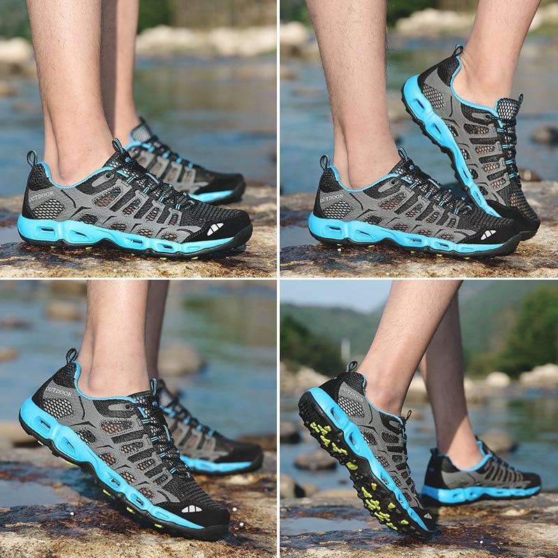 Aqua Botas De Qualidade Malha Dos Preto cinza Sapatilha Verão Sapatos Masculina Moda Beleza Respirável Escuro azul Homens Água Do Para wZx5ZOqR