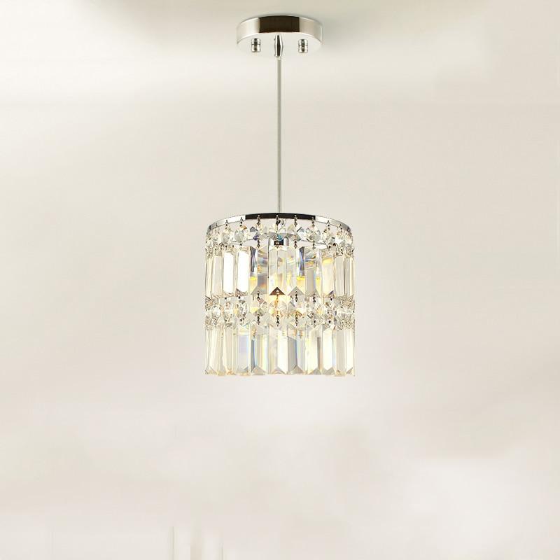 Modern Minimalist K9 Crystal Pendant Lights Kitchen Dining Living Room Shop Decoration suspension luminaire Pendant Lamp Fixture
