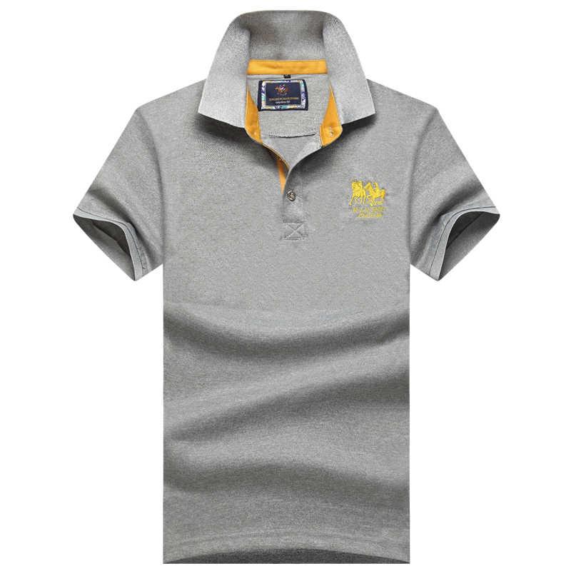 Хорошее качество 2019 новый летний бренд мужские с коротким рукавом Поло Рубашки повседневные мужские хлопковые лацканы Поло Рубашки Модные мужские тонкие Топы