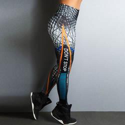 2019 новые спортивные стильные леггинсы с принтом, эластичные леггинсы с высокой талией, дышащие узкие брюки