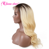 Brazilian Wig Body Wave Wig Color 1B/613 Lace Front Wig With Baby Hair 4*4 Lace Front Human Hair Wigs Jazz Star Non Remy Hair