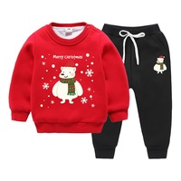 Children's Winter Cartoon Clothing 2019 Kids Unisex Christmas Suit Boys and Girls Christmas Sweatshirt Boys Sets Girls Clothing