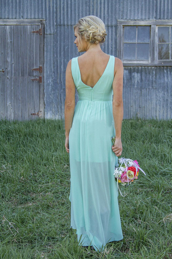New Arrival Peach Mint Green Bridesmaid Dresses 2016 A Line Empire Chiffon  High Low Bridesmaid Wedding Party Dresses-in Bridesmaid Dresses from  Weddings ... fc0e4eef24de