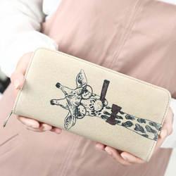 Жираф Для женщин кошельки кожаный кошелек женский животных печать кожаный бумажник Для женщин длинные портмоне девушка леди кошелек с