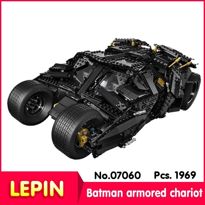ФОТО LEPIN 07060 1881Pcs Batman movie series Batman armored chariot Model Building Blocks set Bricks Compatible 34005 children Toys
