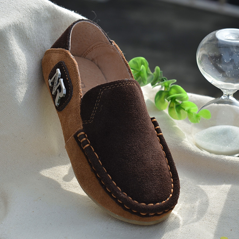Cowhide-Suede-Children-Sneakers-Genuine-Leather-Boys-Loafers-shoes-Kids-Casual-shoes-Boys-moccasin-gommino-Free-shipping-2