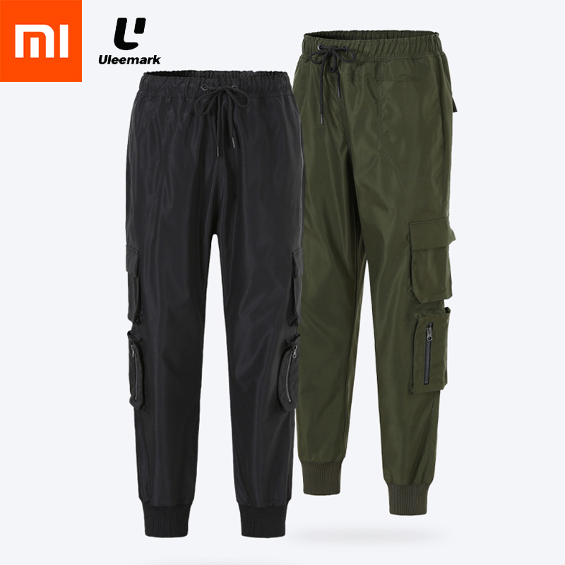 New Xiaomi Mijia ULEEMARK Tooling Trousers Multi pocket Tier Design Handsome Retro Trend Memory Fabric for