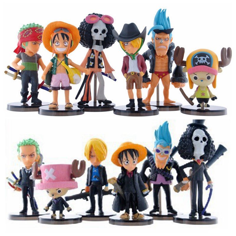 One 6pcs/set Luffy PVC 1
