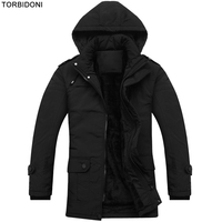 Brand Clothing Winter Jacket Mens Hooded Warm Thicken Coat High Quality Wool Liner Famous Parkas Coat