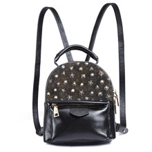 2017 Женская мода натуральная кожа рюкзак леди девушка стиль Школьный рюкзак тонкий мягкий shoudler мешок LS01823