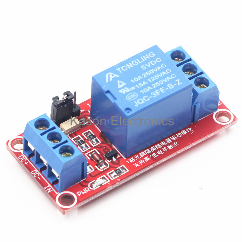 5V One 1 Channel Relay Module Board Shield with optocoupler Support High and Low Level Trigger 4 channel 5a high level trigger solid state relay module board 3 32v power supply and trigger voltage