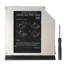 High Quality 9.5mm 2nd SATA HDD Enclosure Caddy Bay Adapter Drive Bay For Dell E6420 E6520 E6320 E6330 E6430 E6530