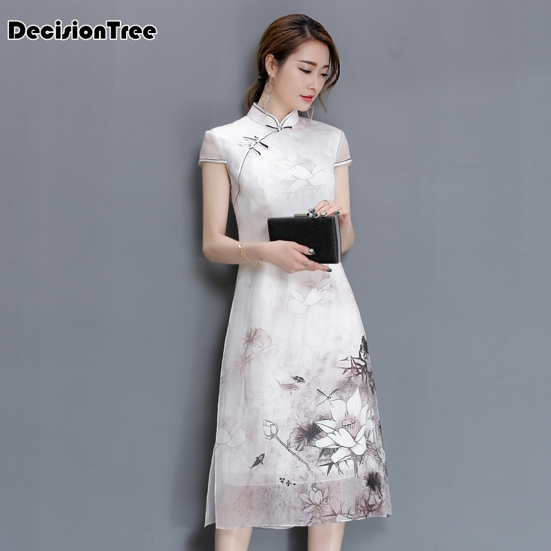 2020 Cheongsam Dress Modern Qipao Dress Chinese Dress Chinese Traditional Dress Vestido Elegant Oriental Qipao Robe Chinoise