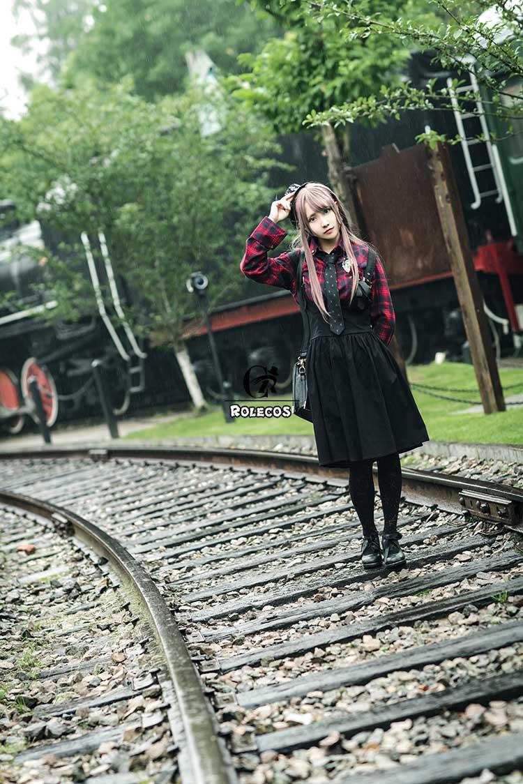 Rolecos novo vestido feminino de estilo gótico,
