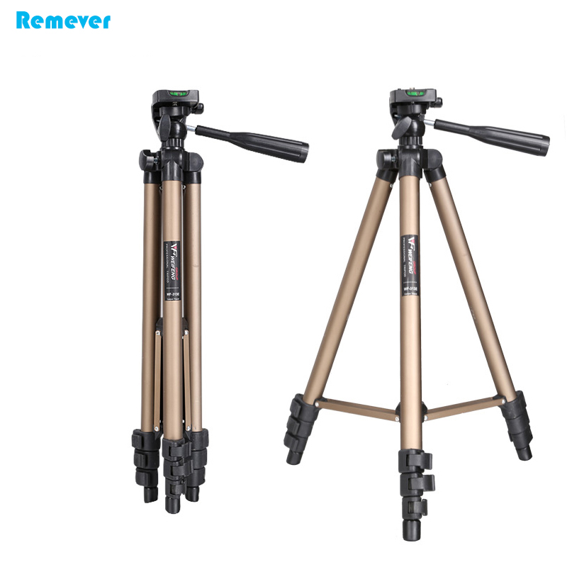 Aluminum Professional Tripod With Phone holder For Iphone Xiaomi PhonesTripod with Pan Head Gimbal for Nikon/Canon/DSLR Cameras