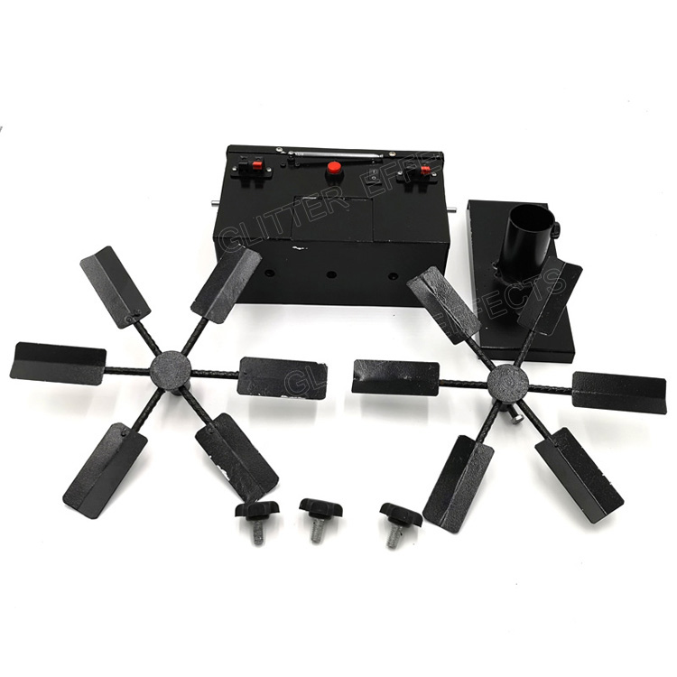 Image 4 - Remote control double wheel face windmill battery type stage cold fountain ignition system machine-in Stage Lighting Effect from Lights & Lighting