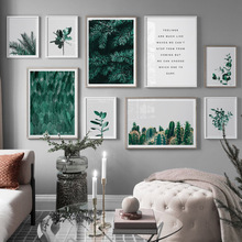 Cactus Tree Fresh Leaves Green Plant Modern Wall Art Canvas Painting Nordic Poster Pop Prints Pictures For Living Room