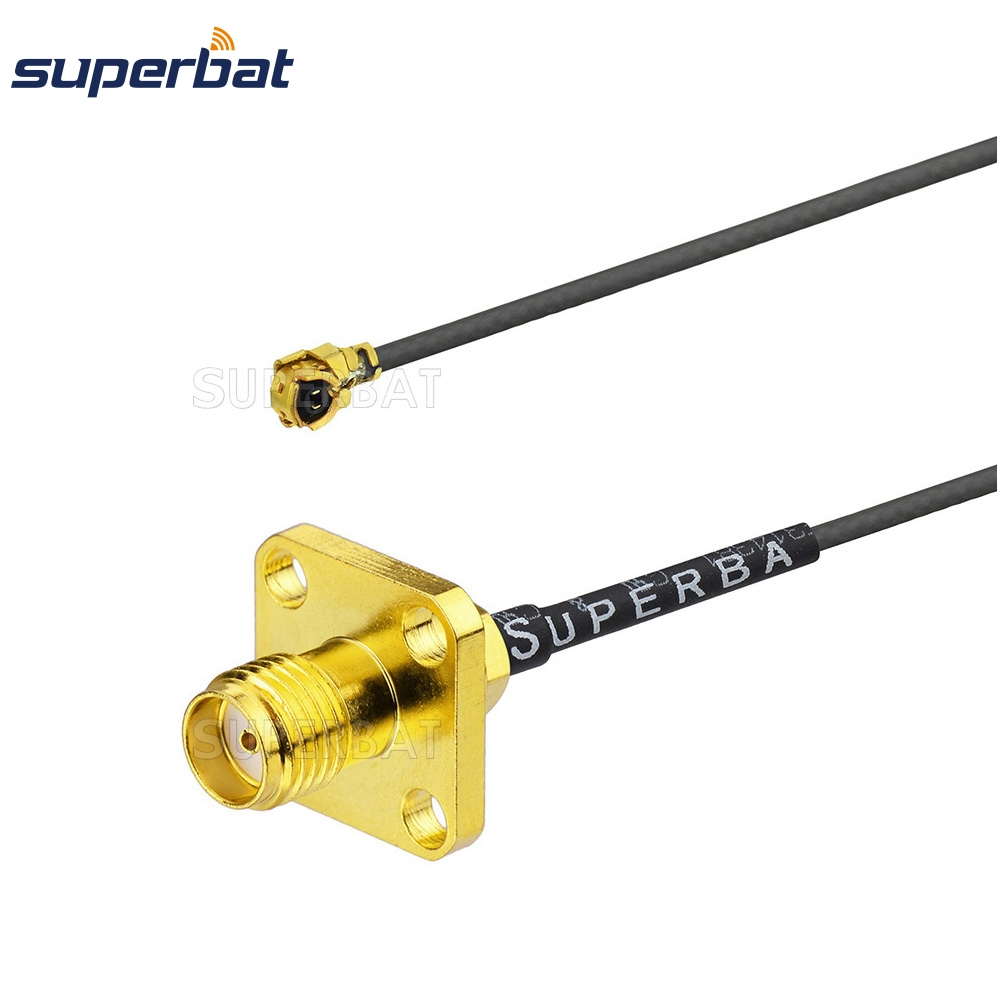 Superbat IPX/U.fl To SMA Jack Female Panel Mount Connector Flange RF Pigtail 1.13mm Antenna Cable 20cm 8