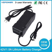 AC100-240V 42V 1.5A Lithium Ion Battery Charger for Electric E-bike Hoverboard ebike