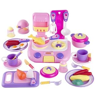 Enfants de jouer jouets de cuisine Cuisine 38 pièces couleur en boîte Simulation ensembles d'ustensiles de cuisine maison de jeu jouets